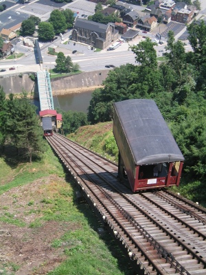 Johnstown incline, looking down