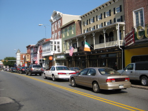 Downtown Phoenixville on a Saturday morning