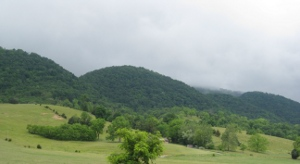 clouds lowering over the West Virginia hills